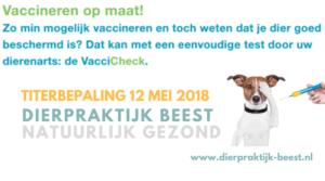 Titeren met Vaccicheck Dierpraktijk Beest